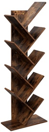 Songmics Bookshelf Brown 50x141.5cm