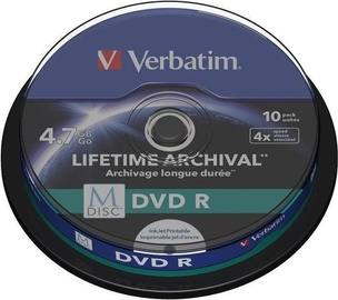Verbatim M-Disc DVD-R 4.7GB 4x 10pcs