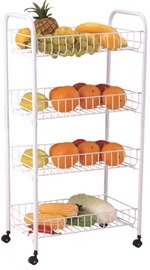 Asi Collection Rolling Cart 4 Shelves White