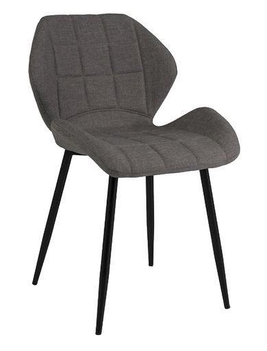 Стул для столовой Signal Meble Hals Black/Grey, 1 шт.