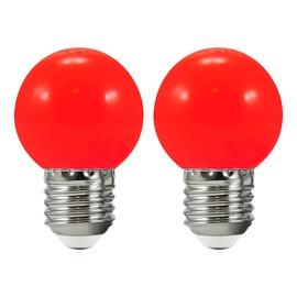 LED-lamp Polux, E27, 0,5 W, 50 lm, 3000 K, punane, 2tk