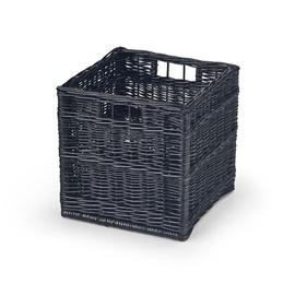Daiktų laikymo krepšys Woody juodas, 31 x 31 x 31 cm