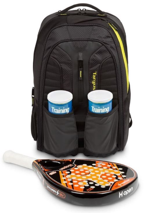 Рюкзак Targus Laptop Backpack, черный/желтый, 15.6″