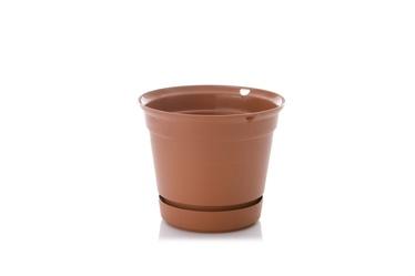 Uniplastex Flower Pot Terrana UDTW15 Brown