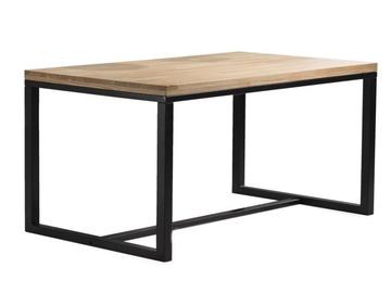 Pusdienu galds Signal Meble Loras Oak/Black, 1800x900x750 mm