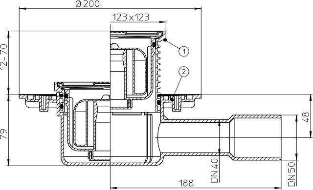 H&L DN40/50 Primus Trap 123x123