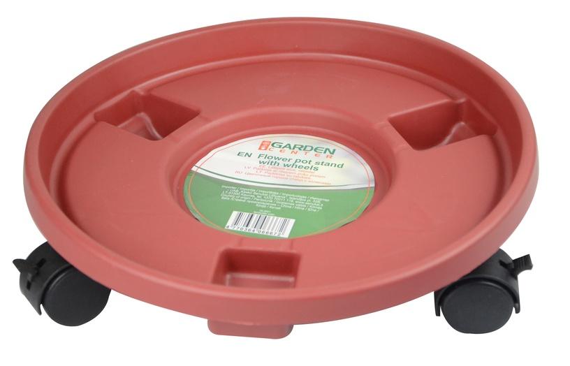 Garden Center Pot Plate With Wheels Brown