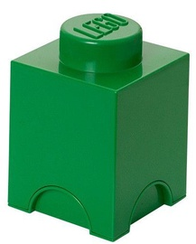 LEGO Storage Brick 1 Knob Dark Green