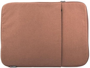 Logic Concept Plush Laptop Sleeve 15.6'' Brown