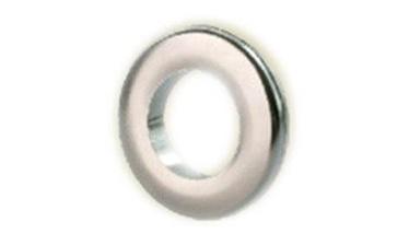 PVC aizkaru gredzens, matēta sudraba