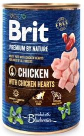 Влажный корм для собак Brit Premium By Nature Chicken With Hearts, 0.400 кг