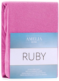 AmeliaHome Ruby Frote Bedsheet 160-180x200 Fuchsia 62