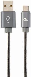 Gembird Premium USB To USB Type - C Spiral Metal Grey 2m