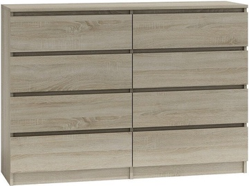 Top E Shop Malwa M8 Chest of 8 Drawers 140cm Sonoma