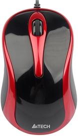Kompiuterio pelė A4Tech A4-N-350 V-Track Red, laidinė, optinė