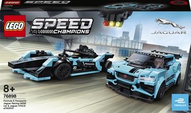 Konstruktor LEGO Speed Champions Formula E Panasonic Jaguar Racing GEN2 Car & Jaguar I-Pace eTrophy 76898, 565 tk