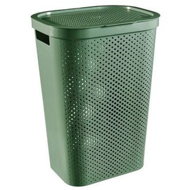 Curver Infinity Recycled Laundry Bin 60l Green