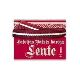 Lenta Latvijas karoga 10mm 2m
