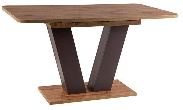 Valgomojo stalas Signal Meble Platon Wotan Oak/Brown, 1360x800x760 mm