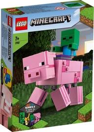 Konstruktorius LEGO Minecraft BigFig Pig With Baby Zombie 21157