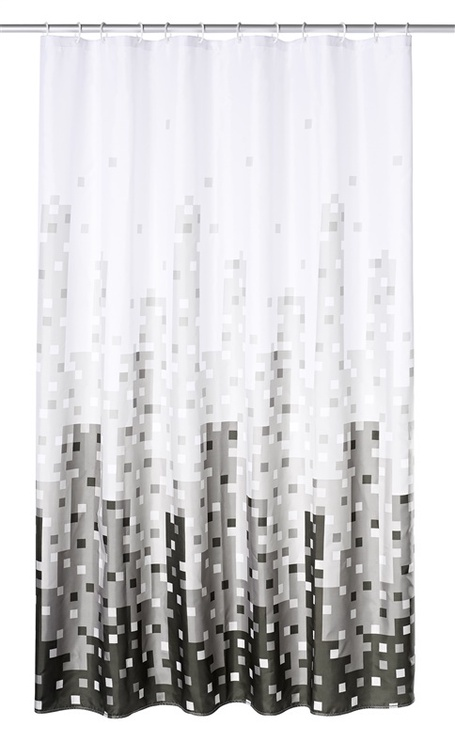 Vannas istabas aizkars Ridder Skyline 47367, balta/melna/pelēka, 2000 mm x 1800 mm