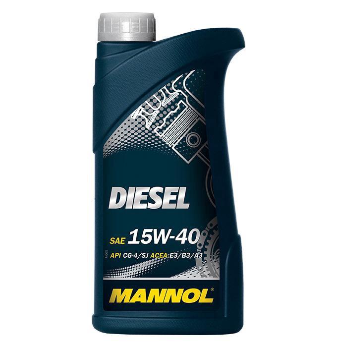 Automobilio variklio tepalas Mannol Diesel, 15W-40, 1 l