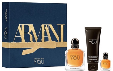 Komplekts vīriešiem Giorgio Armani Emporio Armani Stronger With You 3pcs Set 132 ml EDT
