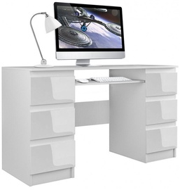 Top E Shop Kuba Desk White Gloss