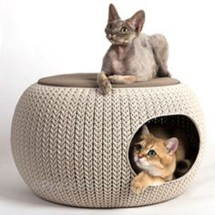 Curver Pet Cusion Two Storey Knit Brown