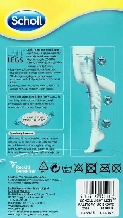 Scholl Light Legs 20 Black S/M