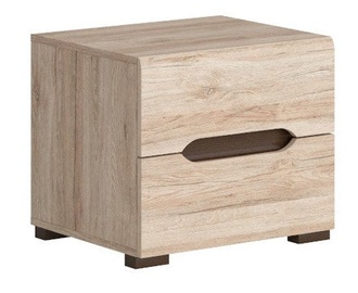 Black Red White Elpasso Night Stand San Remo Oak
