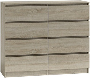 Top E Shop Malwa M8 Chest of 8 Drawers 120cm Sonoma
