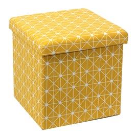 Pufas su daiktadėže XYF171819BE, geltonas, 38 x 38 x 37.5 cm
