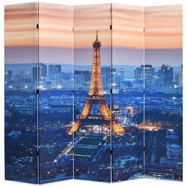 Ширма VLX Folding Room Divider Paris by Night, многоцветный, 200 см x 170 см