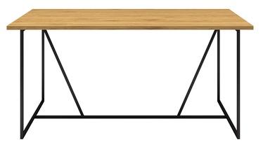 Pusdienu galds Home4you Amsterdam 45039, melna/ozola, 1600x900x750mm