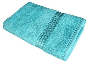Verners Frotee Wick Pattern 70x140cm Turquoise