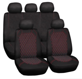 Bottari Spiderweb Seat Cover Set Black Red