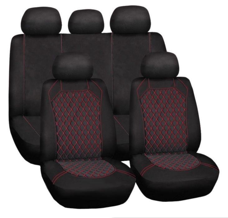 Bottari Spiderweb Seat Cover Set Black Red