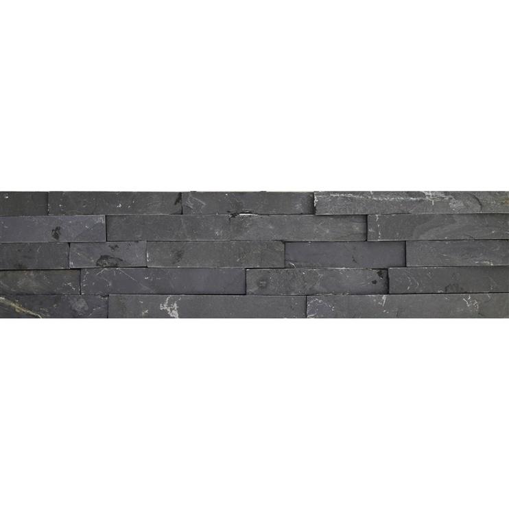 SN Stone Black White Floor Tiles 15x60cm Black