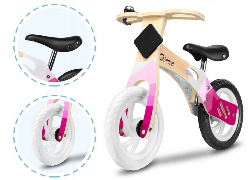 Lionelo Willy Balance Bike Bubblegum