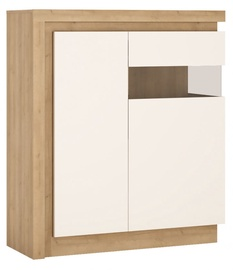 Meble Wojcik Lyon LYOV04R Display Case White/Riviera Light Oak Right