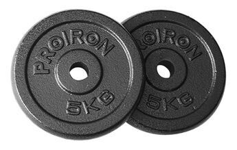 ProIron Solid Cast Iron Weight Plates Set Black 2x5kg