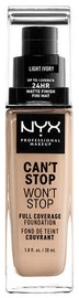 NYX Can't Stop Won't Stop Full Coverage Foundation 30ml Light Ivory