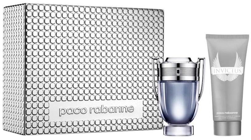 Rinkinys vyrams Paco Rabanne Invictus 100 ml EDT + 100 ml Shower Gel