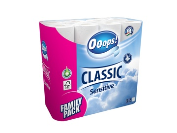 Ooops Classic Sensitive Toilet Paper Family Pack 32pcs