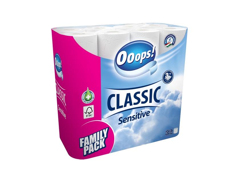 Tualetinis popierius Ooops! Classic, 3 sl., 32 vnt.