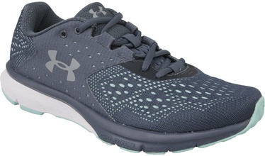 Under Armour Womens Charged Rebel 1298670-100 Grey/Blue 38.5