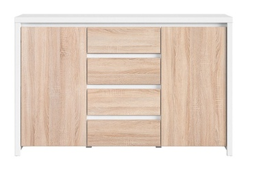 Black Red White Chest Kaspian KOM2D4S White/Sonoma Oak