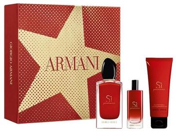 Komplekts sievietēm Giorgio Armani SI Passione 100 ml EDP + 75 ml Body Lotion + 15 ml EDP