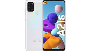Išmanus telefonas Samsung Galaxy A21S balta